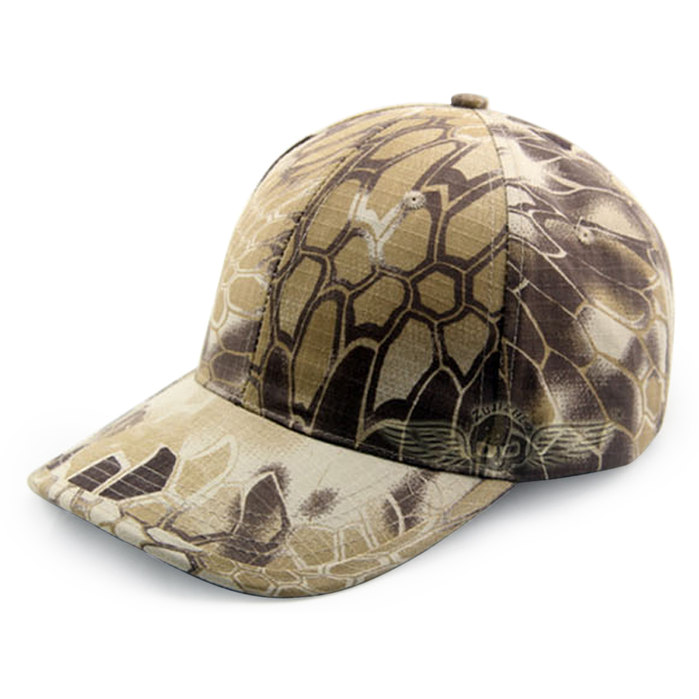 2016 Fashion Snake Camouflage Pattern Baseball Cap Peaked Cap Military Enthusiasts Tactical Cap Unisex Outdoor Sunhat(China (Mainland))