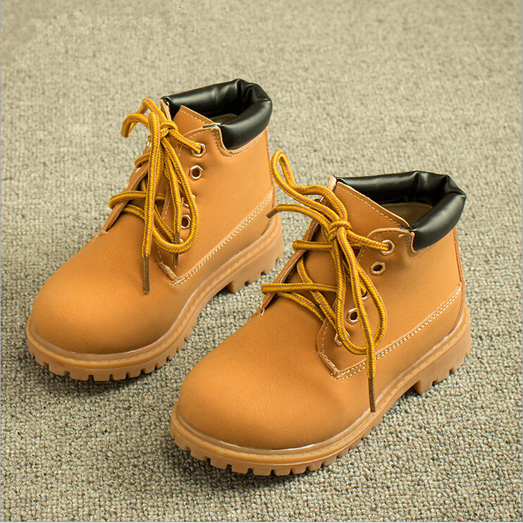 2015 Hot Item New Bota Children Snow Boots PU Leather Children Shoes Kids Fashion Boys Girls Rubber Boots(China (Mainland))