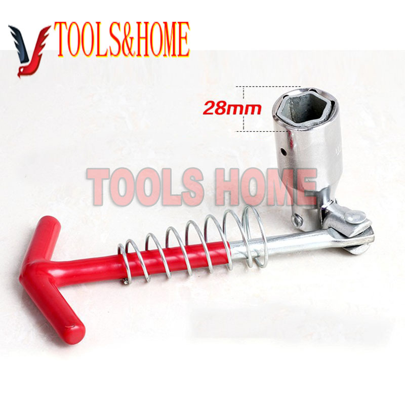 Free shipping!car spark plug socket wrench head gimbal 16&21MM Dual-spark plug wrenchremoval tools with spring