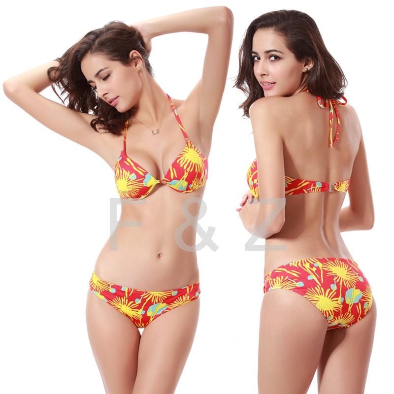2016 brand new swimwear hard cup underwire super push up bikini set for women bandage swimsuit. Black Bedroom Furniture Sets. Home Design Ideas
