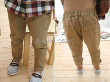 Children Baby Clothes Kid Boys Retro Khaki Casual Pants Straight Trousers 2 7Y