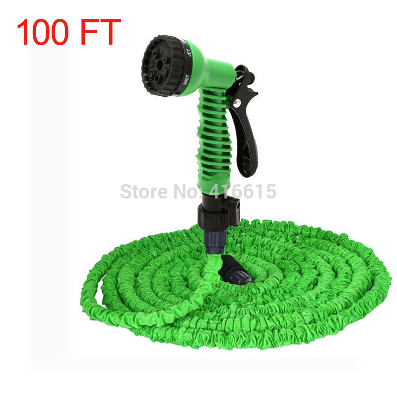 Buy retractable expandable the magic water watering garden hose 100ft 100 ft Expandable garden hose 100 ft