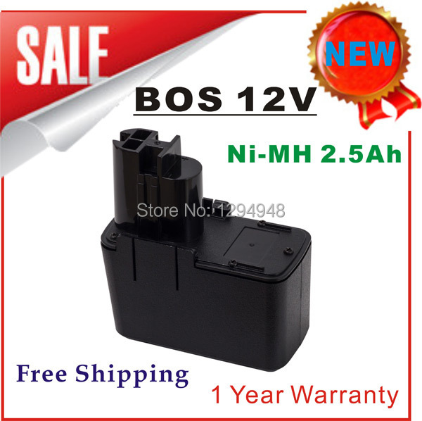 Free Shipping New 12V Ni-MH 2.5Ah Replacement Power Tool Battery for Bosch 2 607 335 055 2 607 335 090 BAT011 BH1214H(China (Mainland))