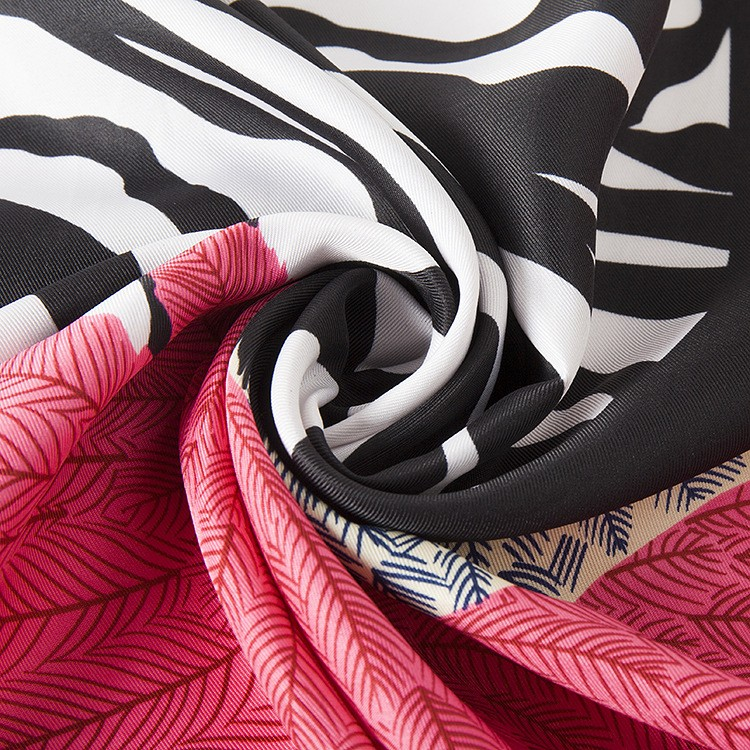 100cm*100cm New Arrival 100% Twill Silk Women Big Square Scarf Zebra Horse and Feather Printed kerchief winter scarves A203