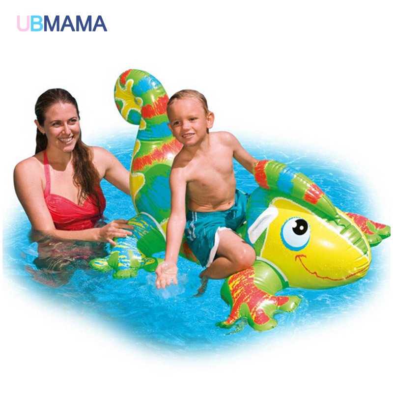 Chameleon Type Children Water Floating Seat Inflatable Float Thick Swimming Cushion font b Kids b font