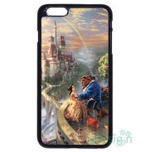 Fit for iPhone 4 4s 5 5s 5c se 6 6s 7 plus ipod touch 4/5/6 back skins cellphone case cover Beauty And The Beast