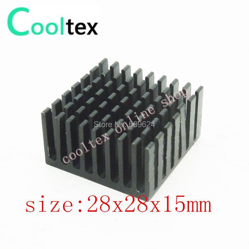 Free Shipping 28x28x15mm Heatsink, Aluminum Heat-Sink, CPU VGA Heat Sink for Electronics,Computer Transistor