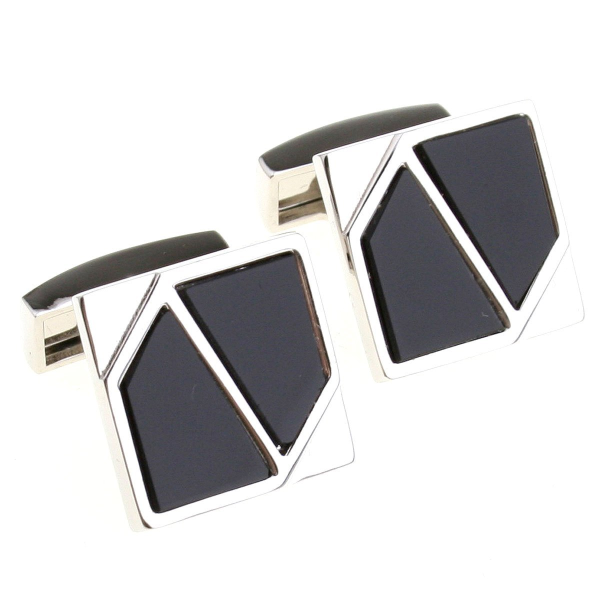 Silver black silver brown gold black three-color square cufflinks nail sleeve 156025(China (Mainland))