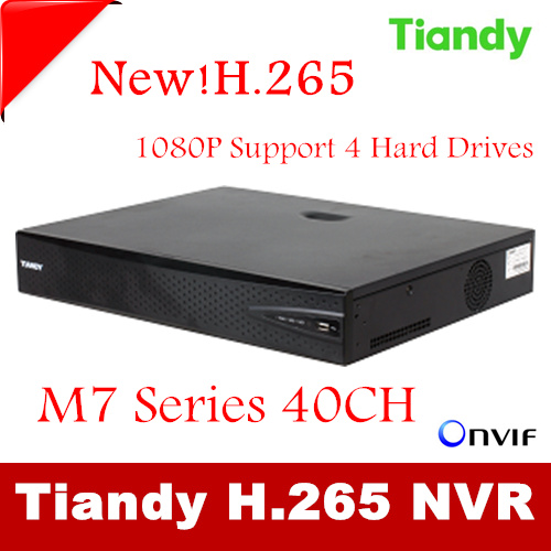Tiandy 40CH H.265 CCTV DVR NVR Recorder P2P iCloud Up to HD 1920*1080 40CH NVR Recorder Support Onvif Multi-Language <br><br>Aliexpress