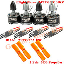 iPower MT1306 3100KV+BLHeli OPTO 16A ESC+2 Pair 3030 Propeller for 130MM 150mm Quadcopter Frame