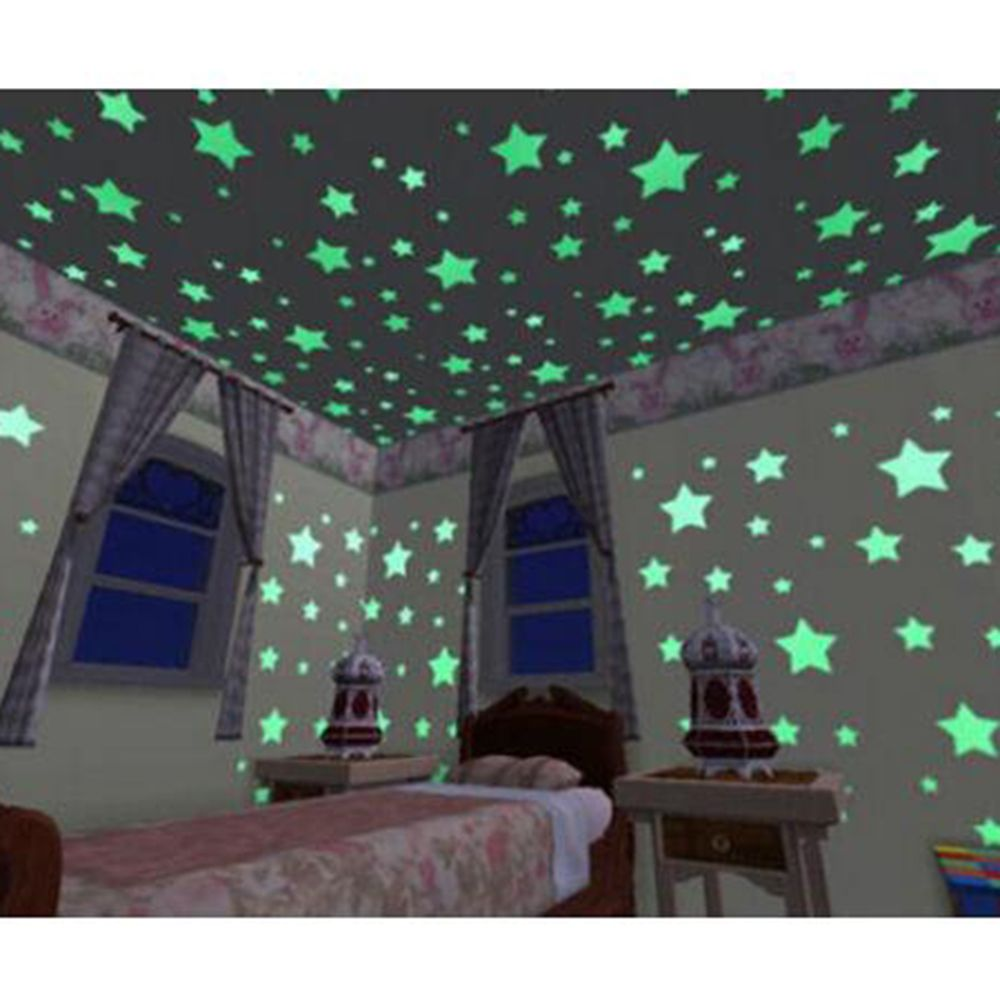 Online kopen wholesale 100pcs home wall ceiling glow in the dark ...
