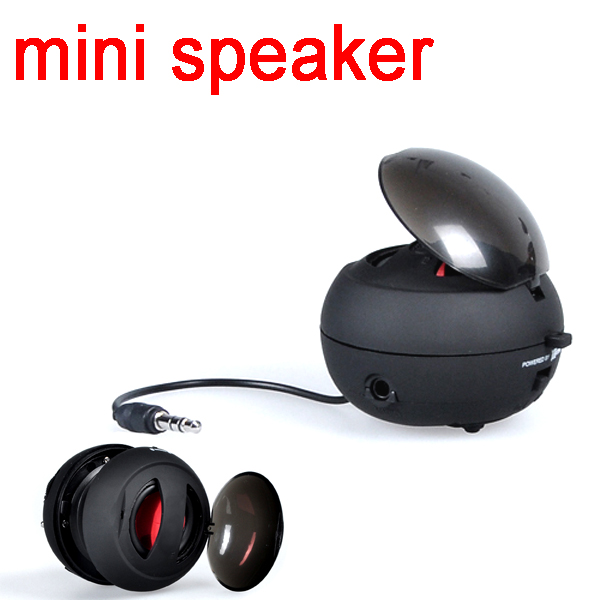 by dhl or ems 10 pieces New arrival Portable pocket Mini Speaker for iPhone iPad iPod Laptop PC MP3 Audio Amplifier(China (Mainland))