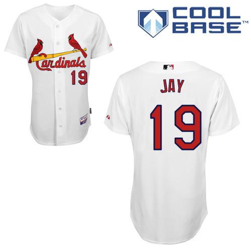 Cheap Custom Cardinals Mens Jerseys #19 Jon Jay White Baseball Jersey2997