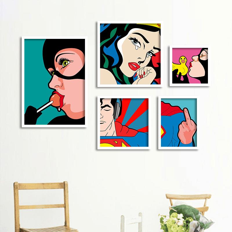 Achetez en gros pop art peinture en ligne des grossistes - Decoracion pop art ...
