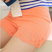 Woman Summer Safety Short Pants Breathable Three Pant Hollow Out Burning Flowers Hollow Out  Elastic High Quanlity Intimate Pant(China (Mainland))