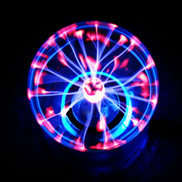 2015 Wholesale High-quality Glass Plasma Ball Sphere USB+Vehicle-Mounted+Audio Control+Gift Box Lightning Light Lamp Party(China (Mainland))