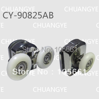 ABS double top roller and singial bottom show bath roller picture (CY-90825AB)(China (Mainland))