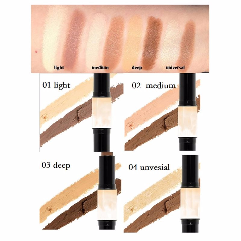 Natrual Cream Face Eye Foundation Concealer Highlight Contour Makeup Pen Stick
