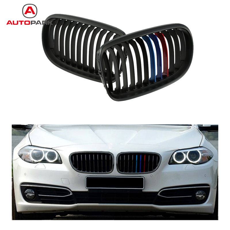 High Quality One Pair Front Matte Black M-color Grille Grilles for BMW E90 08-11 Car Bumper Grille for BMW(China (Mainland))
