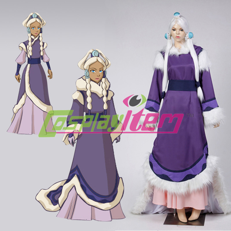 Customized The Last Airbender Princess Yue Avatar Dress Adult Carnival Halloween Cosplay Costume(China (Mainland))