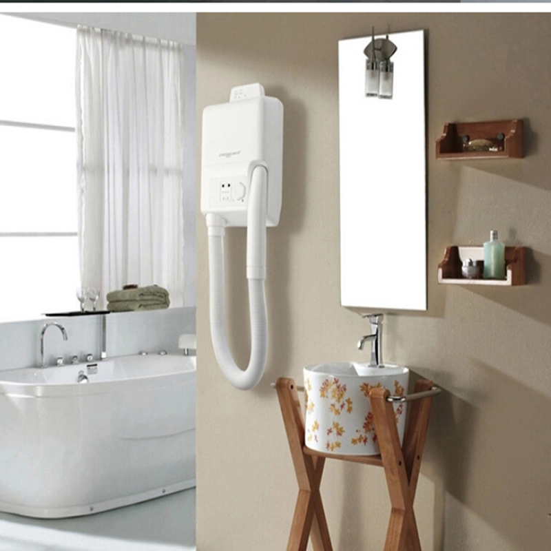 bathroom wall mounted hair dryer skin dry blower machine hotel & home appliance ABS plastic White Color(China (Mainland))