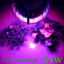 1X Can be Customized Led Grow light E27 54W Full Spectrum High Quality With 3 Years Warranty Growing Lamp AC85-265V(China (Mainland))