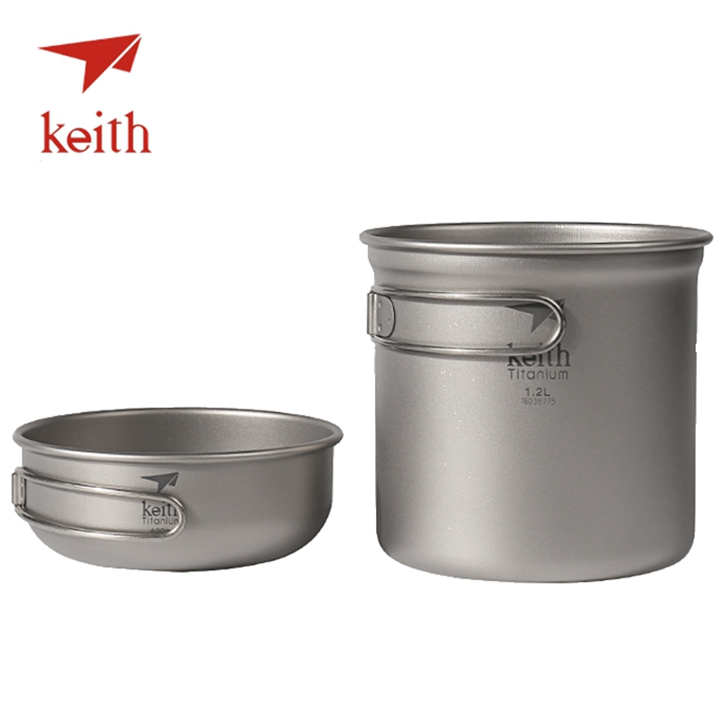 Promoci n de utensilios de cocina de camping de titanio - Utensilios de cocina de titanio ...