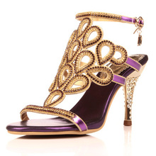 High Quality 2015 Gladiator Sandals, Rhinestone High Heels,Wedding Sheos Diamond Sandals, Small Plus Size 33-41 Discount(China (Mainland))