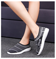 women cool summer mesh breathable shoes lady casual soft bottom flat shoes female leisure sport and