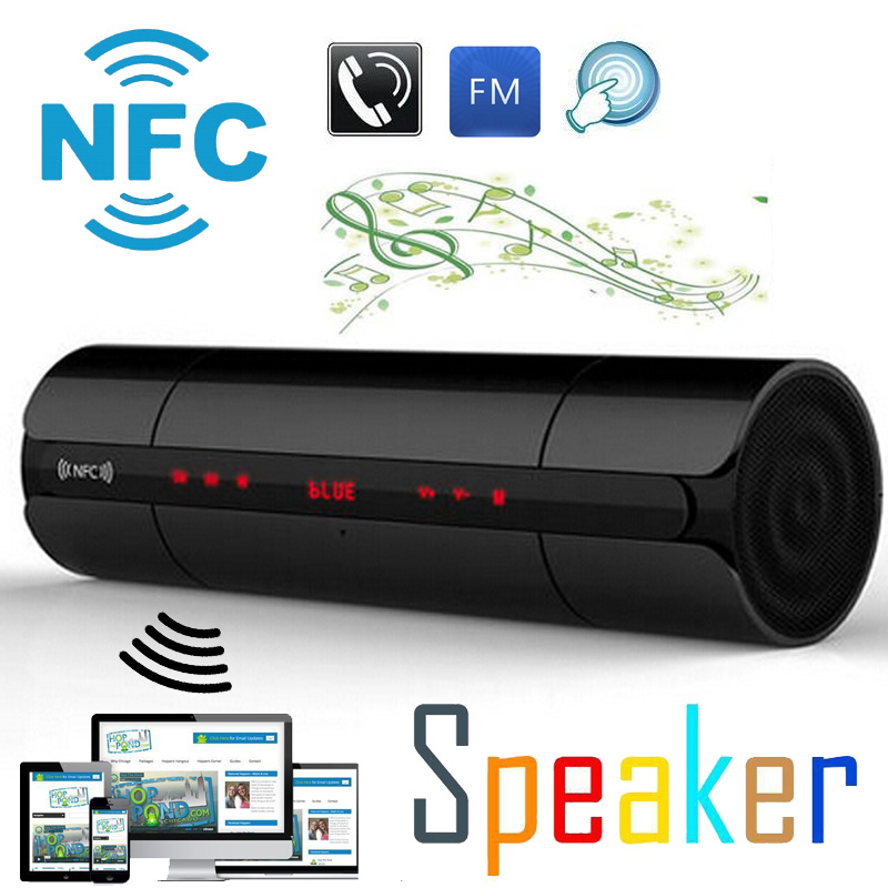 High Quality NFC FM HIFI Bluetooth Speaker Wireless Stereo Portable Loudspeakers Bluetooth Boombox Super Bass MP3 Player Touch(China (Mainland))