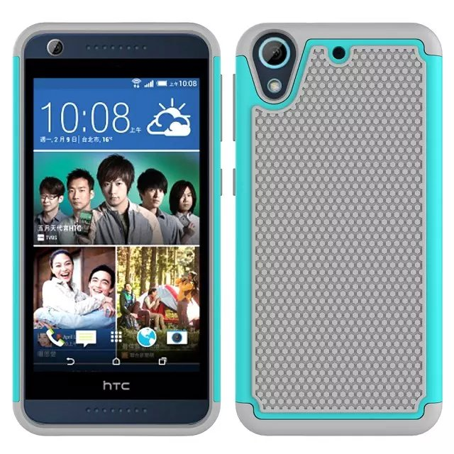 50pcs/lot Mix Color For HTC Desire 626 Dual Layer PC Silicone Hybrid Football Hard Back Case(Hong Kong)