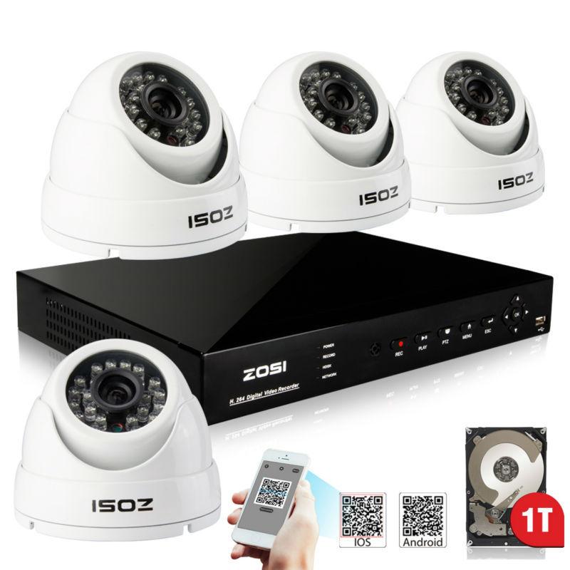 ZOSI 800TVL 4PCS CCTV Security Camera System 8CH HDMI DVR Outdoor Day/Night IR Camera DIY Kit Video Surveillance System 1TB HDD(China (Mainland))