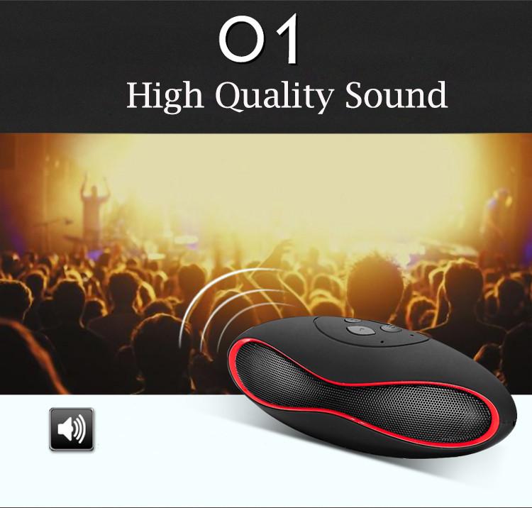 New Fashion Mini Portable Rugby Bluetooth Speaker Boombox Wireless Sports Loudspeaker Music Player Support TF/USB SoundBar