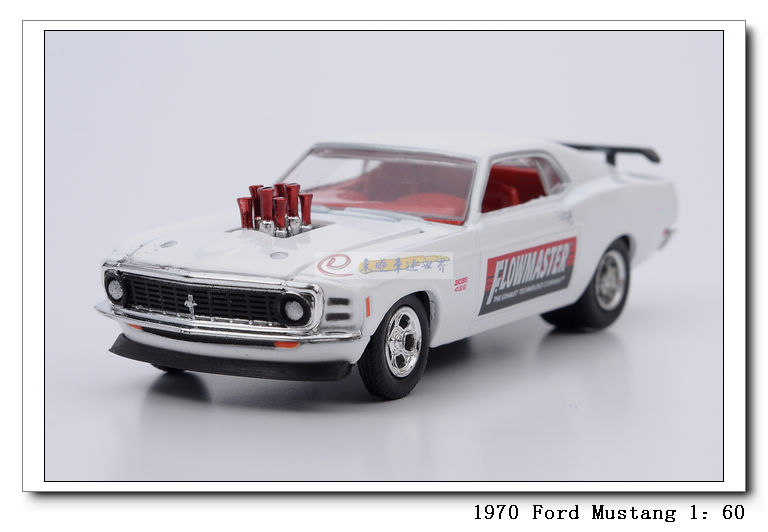 M2 alloy car models 1970 ford mustang FORD white mustang(China (Mainland))
