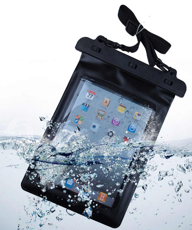 Black 100% Waterproof Pouch Dry Bag Sleeve Case High Quality Protection Carrying Bag For iPad Tablet Electronic Gadget Accessory(China (Mainland))