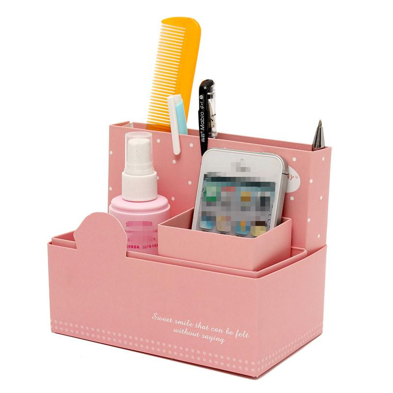 DIY Organizer Handmade Paper Board Storage Box Stationery Makeup Cosmetic Storage Case Bin Gift Office Desk Decor(China (Mainland))
