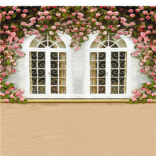 Pink Flowers Way Photography Baby Backdrop White Window Leaf Studio Photo Backdrop
