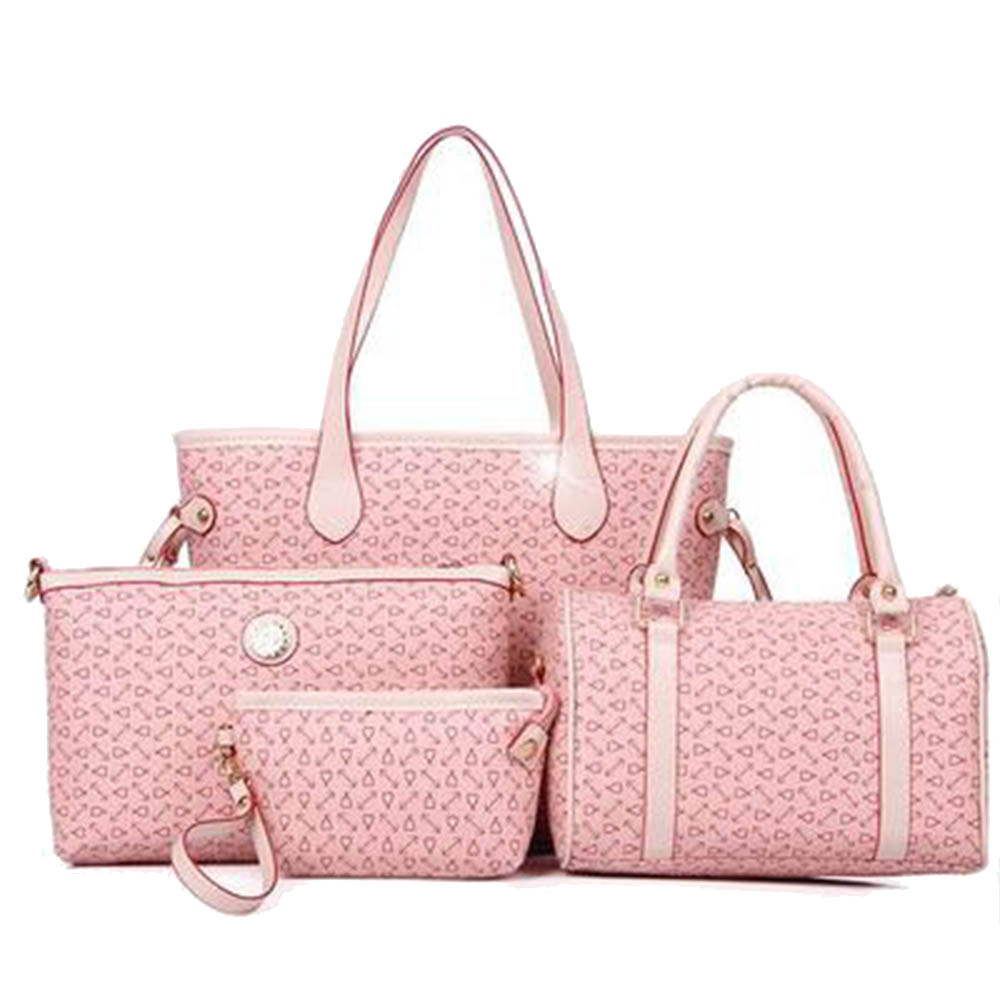 Western Style Composite Bag Fashion Women Arrow Casual Totes PVC Travel Handbag Female Elegent Printed Shoulder Bag 4 Bags Set(China (Mainland))