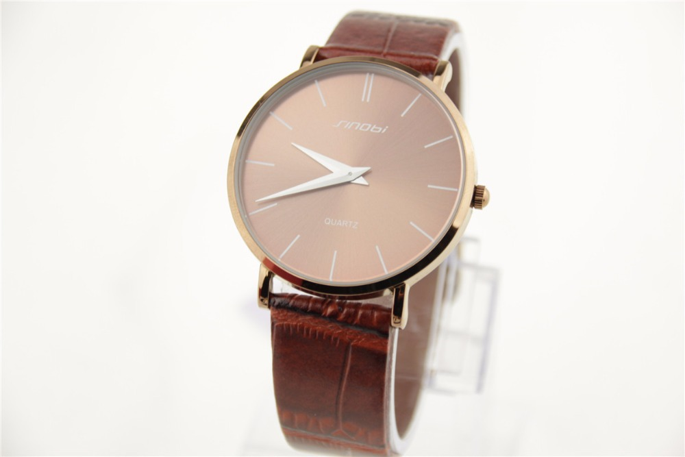 New SINOBI Watches ladies watches for women PU belt fashion watch wholesale 3 color choices simple women watches(China (Mainland))