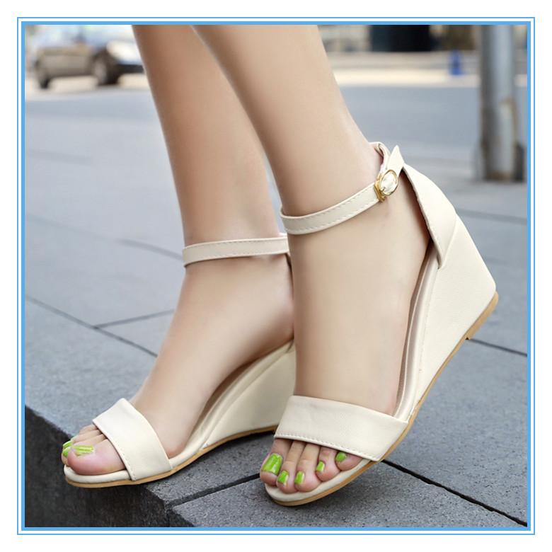ENMAYER wedges Sandals summer new High gladiator sandals women shoes woman sandals open toe platform sandals big size Bohemia