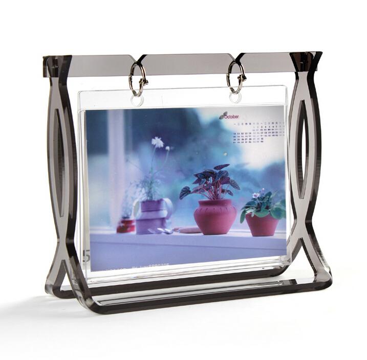 Calendar photo frame 6' acrylic clear DIY photo frames collage photo album art deco multi office family frame free shipping(China (Mainland))