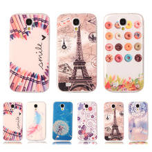 Ultra Thin Colorful Crystal Phone Case For SAMSUNG Galaxy S4 Mini i9190 i9195 Transparent Gel Plastic Clear Protective Cover