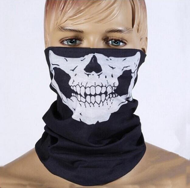 FREE! hot NEW CS Cosplay Ghost Skull Black Face Mask Motorcycle Biker bicycle Balaclava mask(China (Mainland))