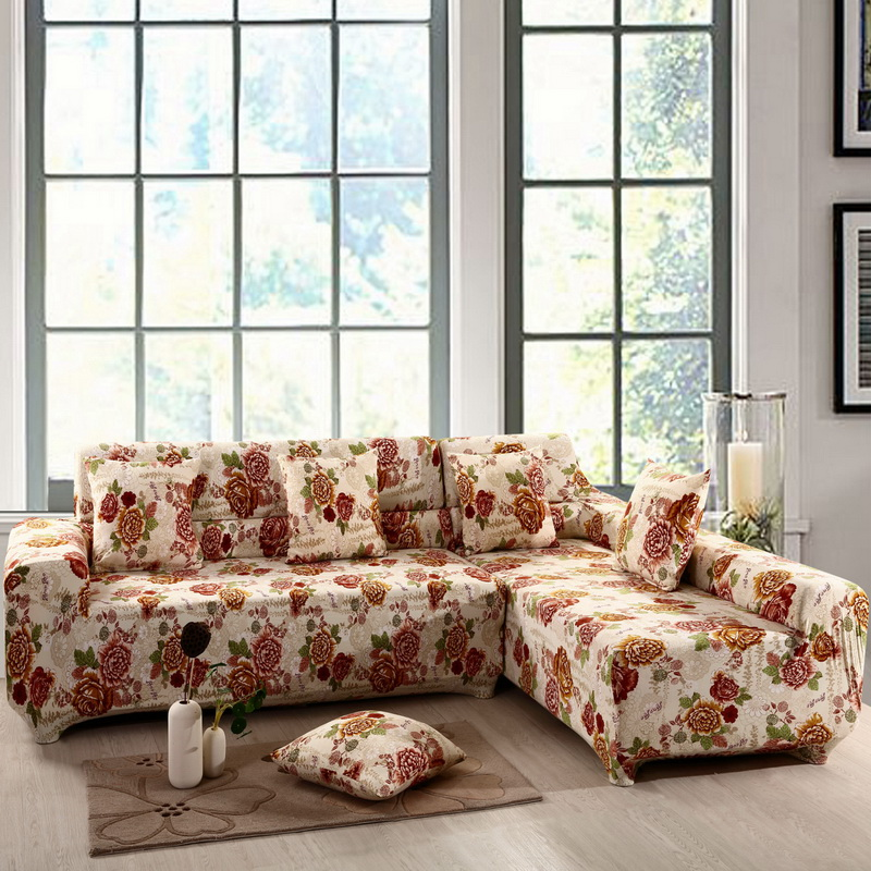 1,2/3/4-seat Sofa Cover Sectional Couch Covers L-shaped Sofa Cover Elastic Universal Wrap Entire Sofa Slip-resistant Slipcover(China (Mainland))