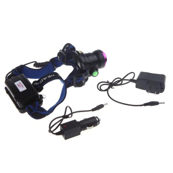 Low Price XML T6 2000 Lumens Rechargeable Headlight Bicycle Bike Head Light Climbing Headlamp Head Lamp Lantern For Hunting(China (Mainland))