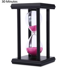 Stylish Ornament 30 Minute Sand Hourglass Countdown Timing Modern Wooden Sandglass Sand Clock Timer Home Decoration Wooden Frame(China (Mainland))