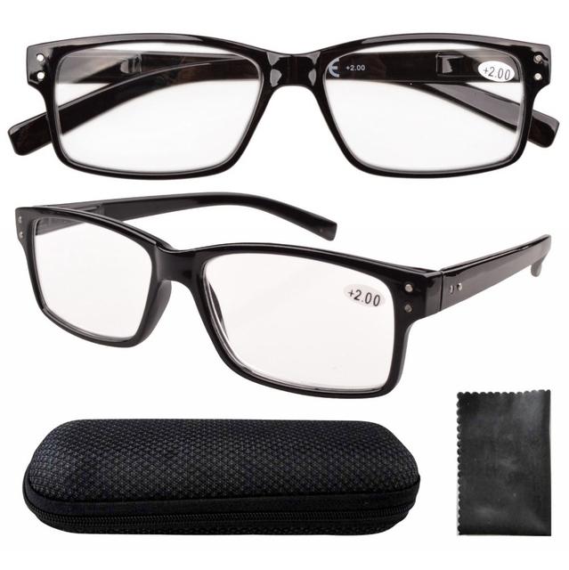 R032 черная весна петли старинные рамы очки для чтения люди с чехол + 0.0 / 0.5 / ...