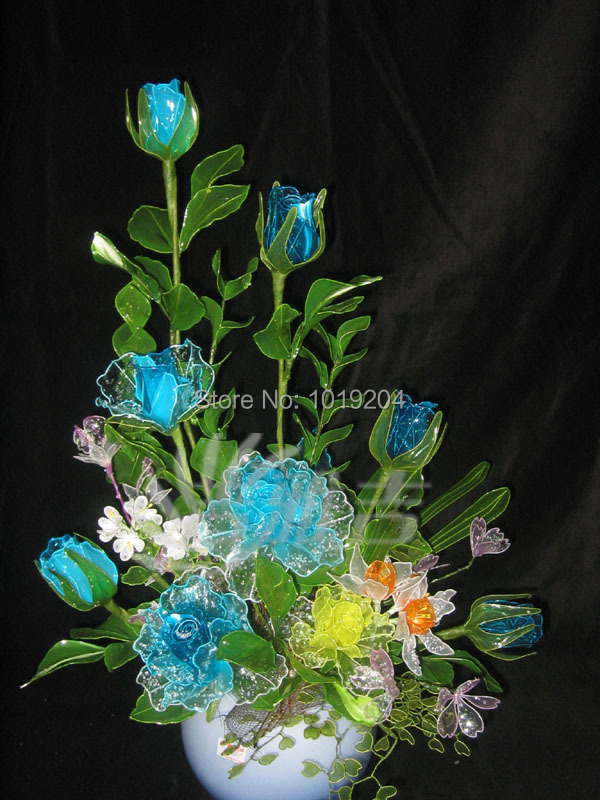 100PC magical world of natural crystal flower seeds, rare and colorful potted flower seeds, natural growth of plants(China (Mainland))