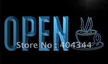 LK779- OPEN Coffee Cup Cafe NEW LED Neon Light Sign