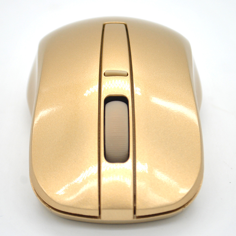 Hot Sale Super Cool 2.4GHZ Gold Wireless Mouse Wifi Gaming Mouse for Laptop PC Computer Gamer X60*DA1356W#s10(China (Mainland))